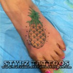 pineapple foot tattoo
