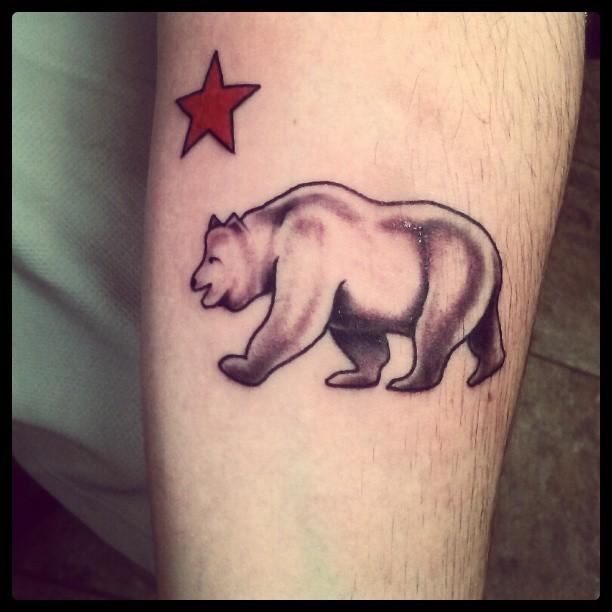 California bears tattoo sacramento for California bear tattoos