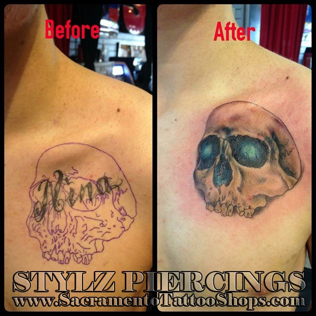 Cover up tattoo sacramento stylz shop for Tattoo parlors open on sunday