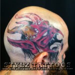 devil head tattoo