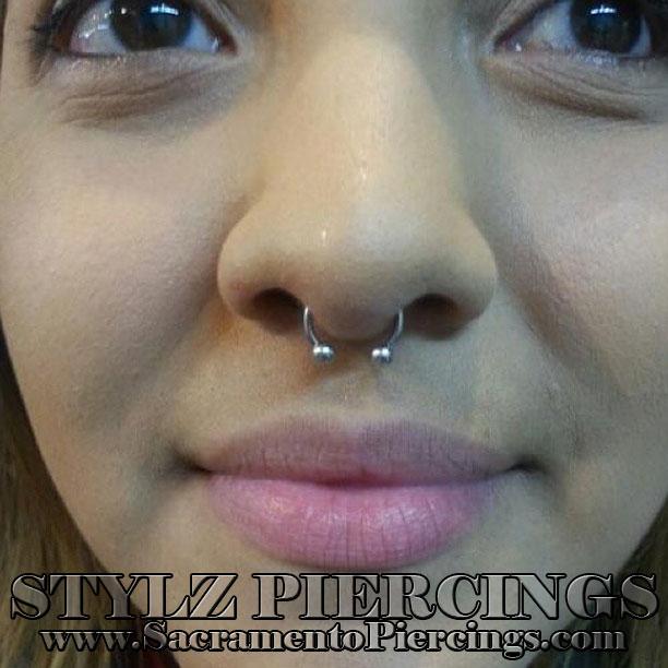 septum piercing in sacramento