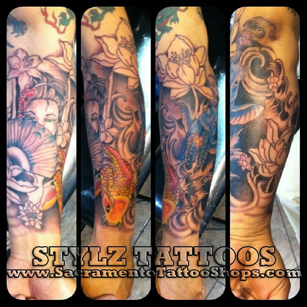 sleeve tattoo in sacramento