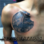 death star tattoo star wars
